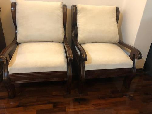 2 sillones de cedro (muebles de casa viva)