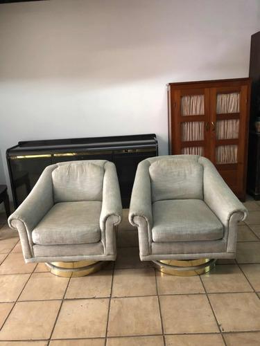 2 sillones sofás butacas individuales americanos giratorios