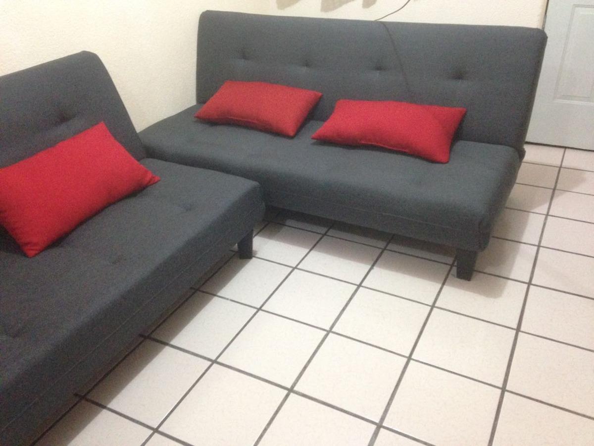 2 Sofa Cama Gris Oxford En Morelia