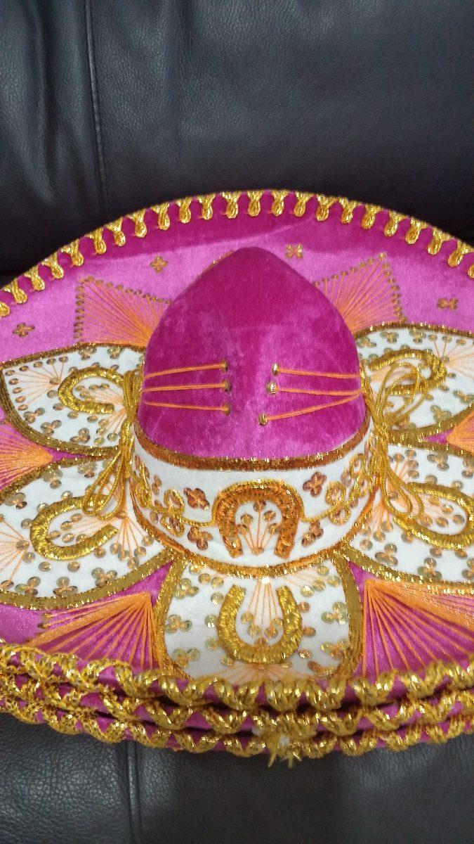 2 sombrero charro blanco oro plata adulto fino mariachi mex. Cargando zoom. 5a9175493a1