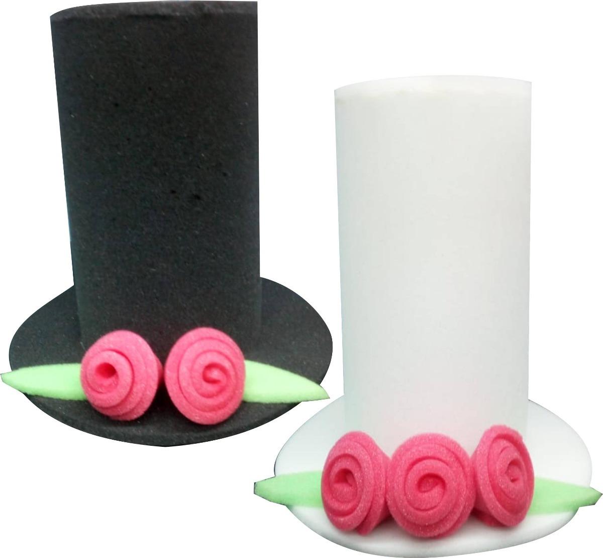 2 Sombreros Hule Espuma Novios Boda Fiesta Batucada Dj -   145.00 en ... cca56294f95