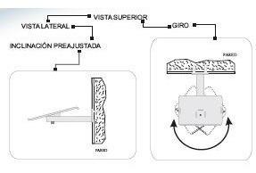 2 soportes de pared ajustable para bocinas bafles subwoofers