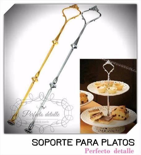 2 soportes plateados y 2 dorados sin platos ni disco for Soporte platos cocina