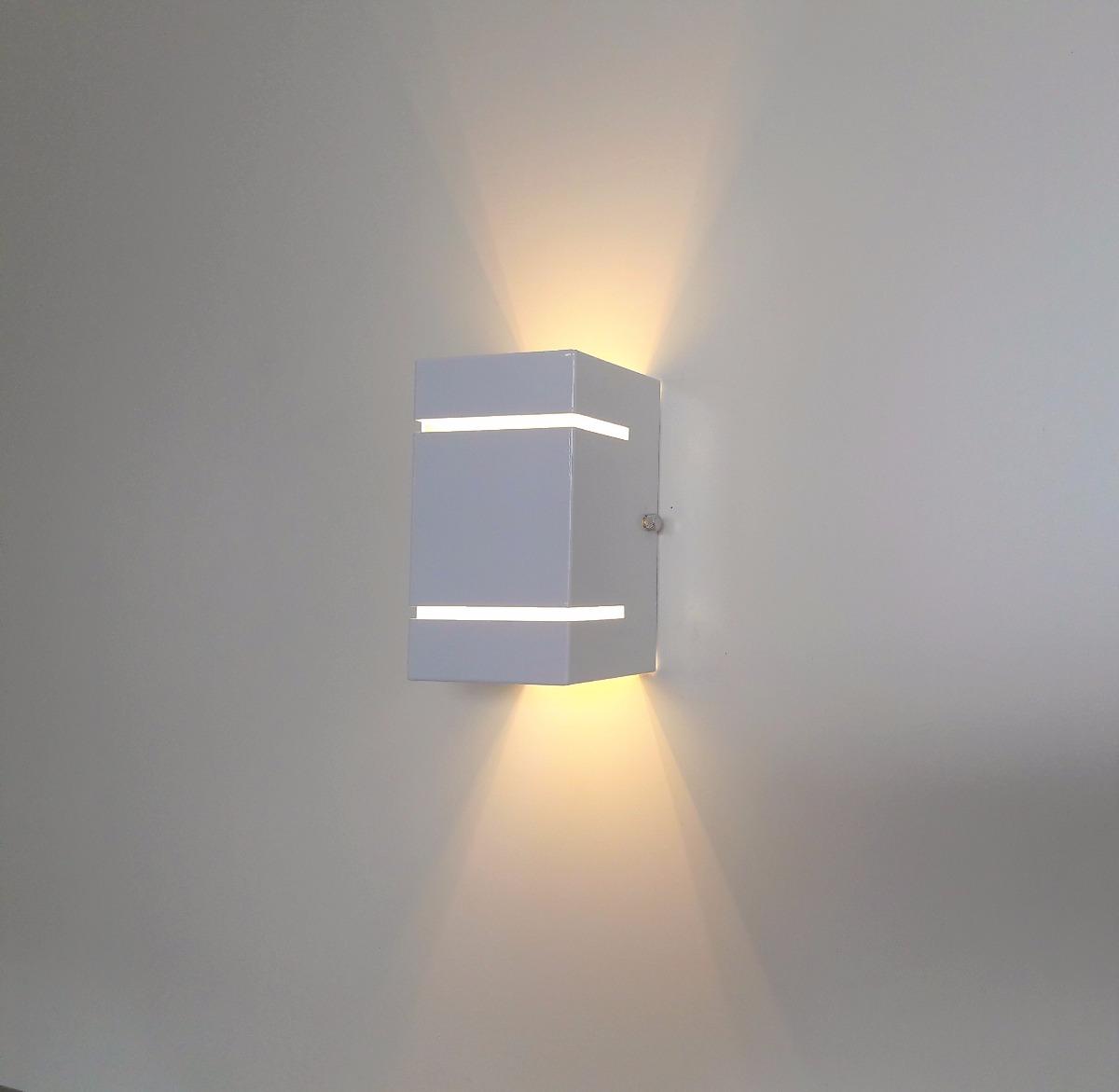 2 spot lumin ria de parede arandela externa fachos led for Luminarias de exterior led