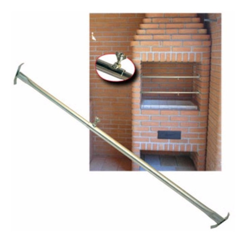 2 suporte extensor ajustavel churrasqueira p grelhas espetos