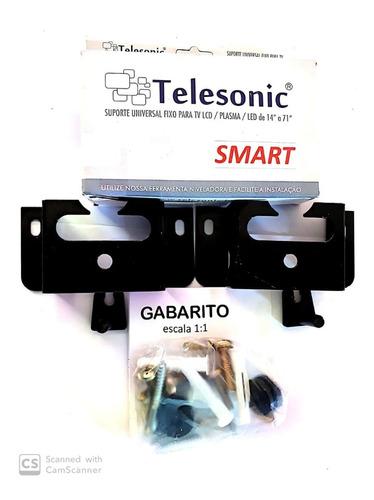 2 suporte tv lcd fixo universal smart telesonic 14`a 71`