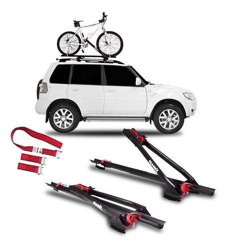 2 suportes teto bicicleta calha transbike eqmax velox bike