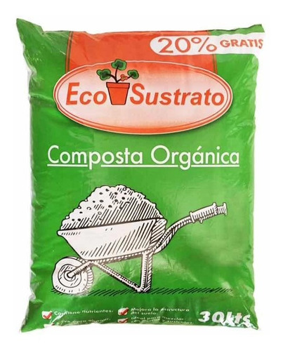 2 sustrato composta organica 30 lt c/u mejorador suelo