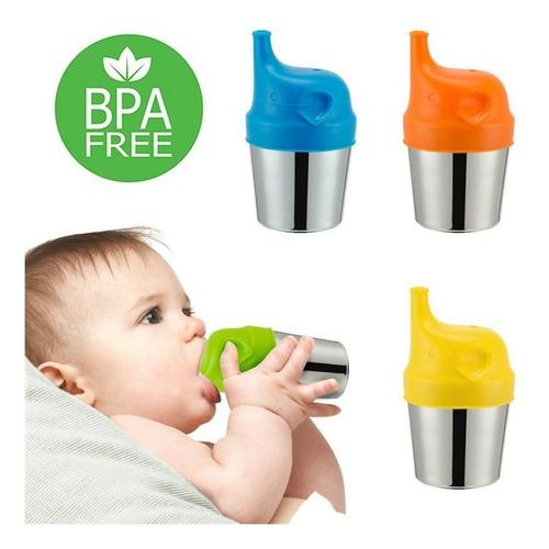 2 tampas bico silicone copo treinamento bebe criança cores
