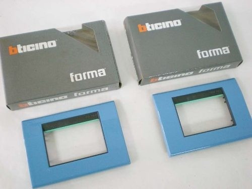 2 tapas ticino forma b5c fijación presión color azul
