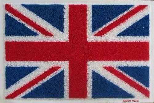 2 tapetes capachos bandeira da inglaterra - frete grátis
