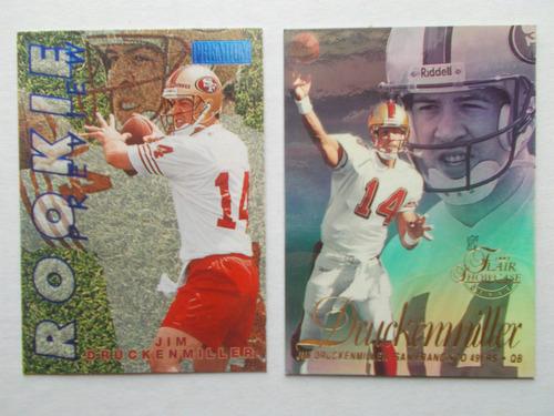 2 tarjetas de novato j druckenmiller  san francisco   49ers