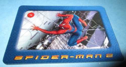 2 tarjetas lenticolares spider-man 2 kelloggs vv4