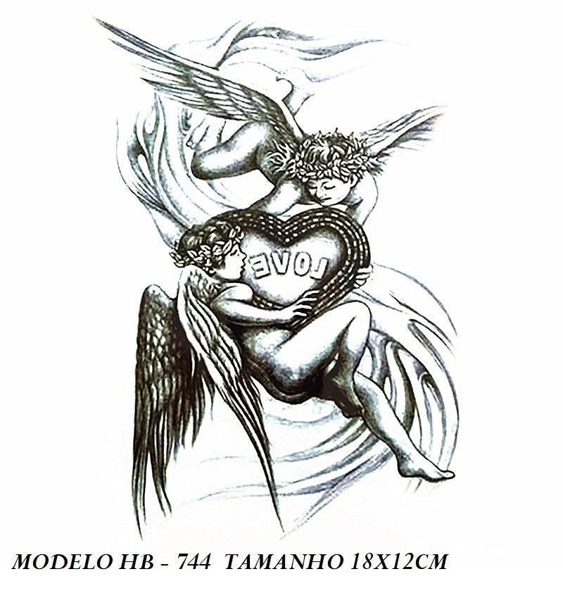 2 Tatuagem Grande Anjos / Deusa Do Amor... Lindas !!!