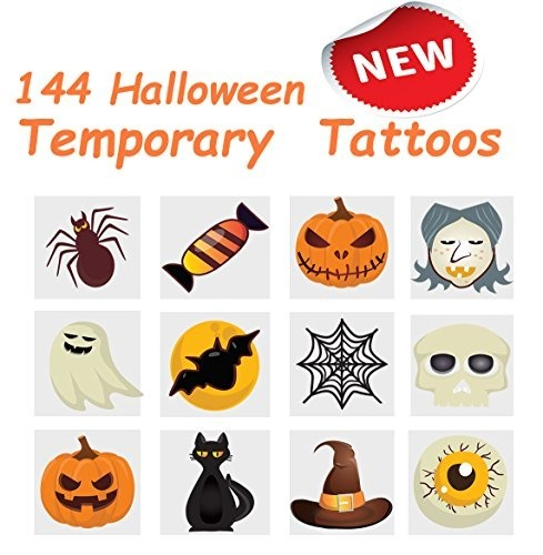 2 Tatuajes Temporales De Calabaza De Halloween, 12 Estilos S ...