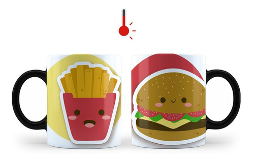 2 tazas mágicas pareja san valentín divertida