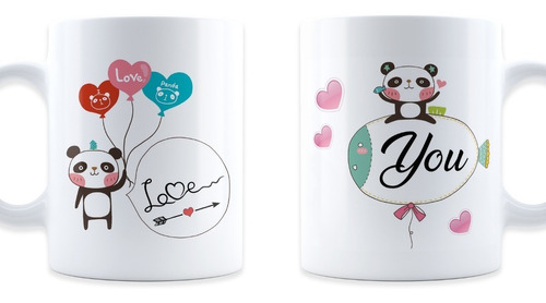 2 tazas pareja mickey minnie   14 febrero san valentín
