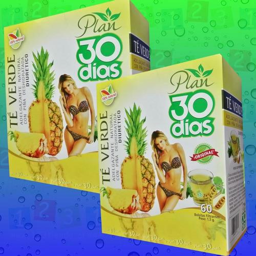 2 te verde adelgazante con piña deshidratada plan 30 dias
