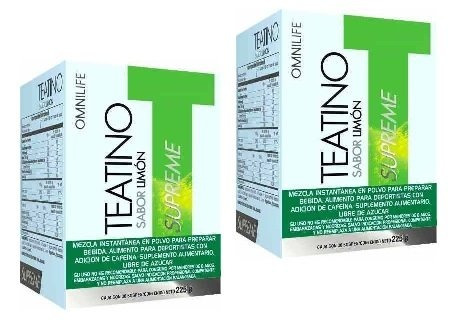 2 teatino limon supreme omnilife + envio gratis