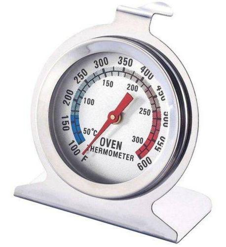 2 termometros de forno 300° analógico culinario inox 60 min