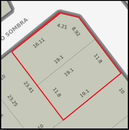 2 terrenos de 442 m2 total a 300 mts de salida acceso oeste.