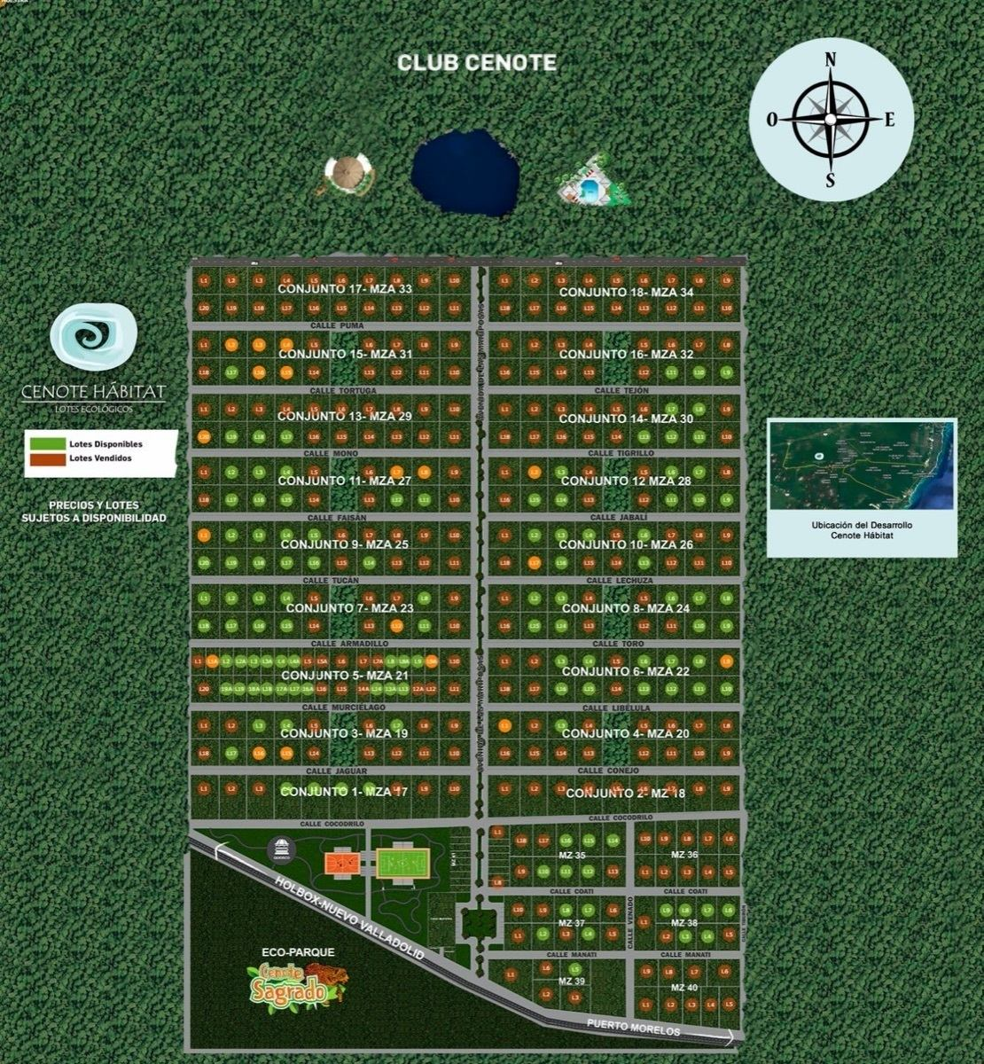 2 terrenos en venta 1600 mts c/u  muy cerca de playa del carmen y puerto morelos