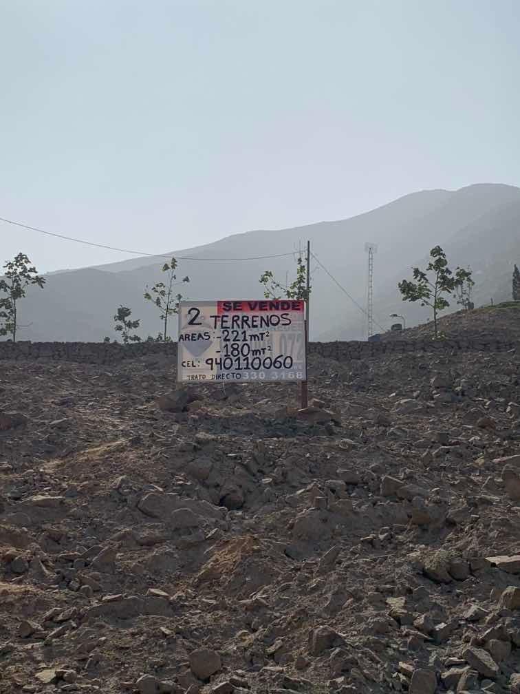 2 terrenos en venta urb. los andes de huampaní- chosica