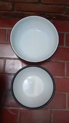 2 tigelas em ágata (grande - 22 cm / pequena - 18 cm diâm.)