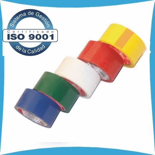 2 tirros cinta de embalar en colores 100mts extra fuerte