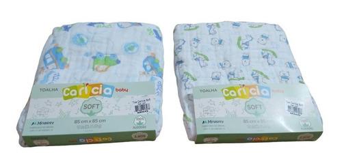 2 toalhas fralda com capuz 85 cm x 85 cm 100% algodão