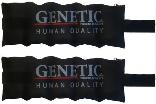 2 tobilleras con carga 3 kilos entrenamientos de crossfit culturistas powerlifting accesorio de gimnasio genetic pro