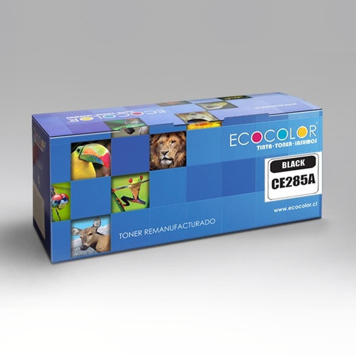 2 toner ecológicos ecocolor 85a p1102w lbp 6000 6030w c/iva