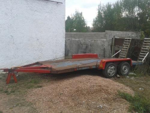 2 trailer para llevar  autos doble eje y 1 eje vendo permuto