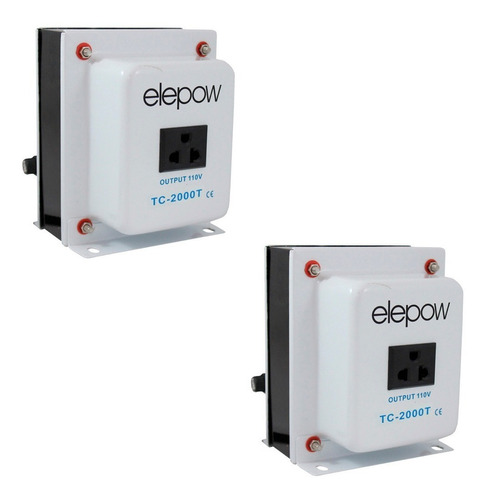 2 transformadores corriente de 220v a 110v de 2000 watts