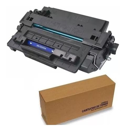 2 un cartucho toner preto ce255a 255a 55 - impressora p3015