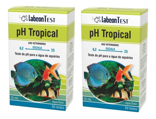 2 und. labcon teste de ph tropical água doce 15 ml 60 testes