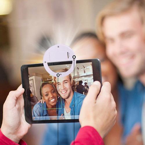 2 unds selfie luz led equipamiento de móvil inteligente