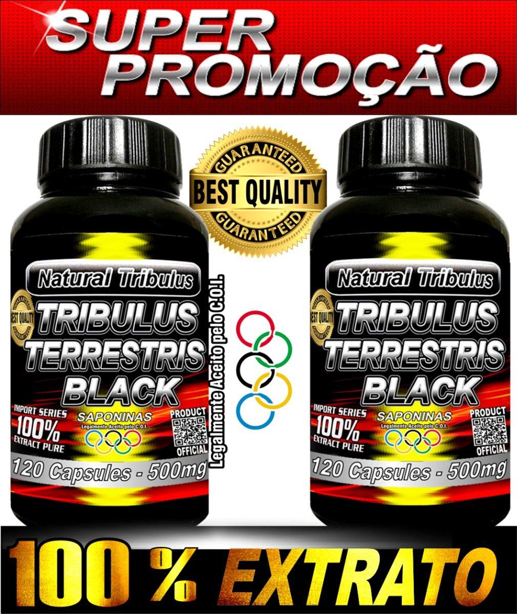 81c310c0e 2 Uni Tribulus Terrestris Black 240 Caps Total Saponinas - R  49