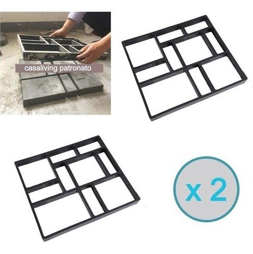 2 unidad moldes para cemento sendero cuadrado 45x40cm jardin