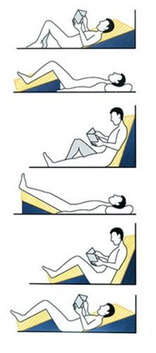 2 unidadades travesseiro triangulo encosto comfort luckspuma