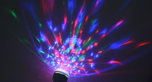 2 unidade lampada rgb giratória bola maluca globo de luz