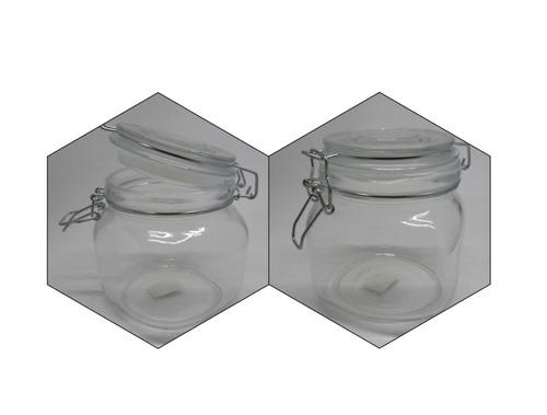 2 unidades envase hermético frasco vidrio clip 800cc + envió