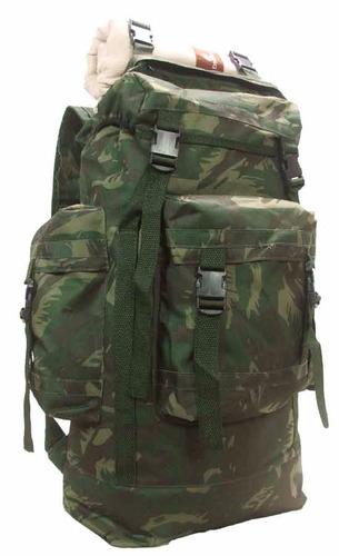 2 unidades mochila camuflada tipo militar para camping 50 lt