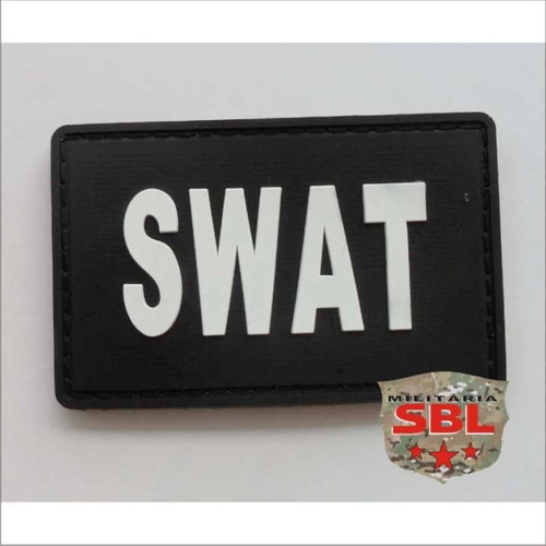 2 unidades patch emborrachado swat força de polícia especial