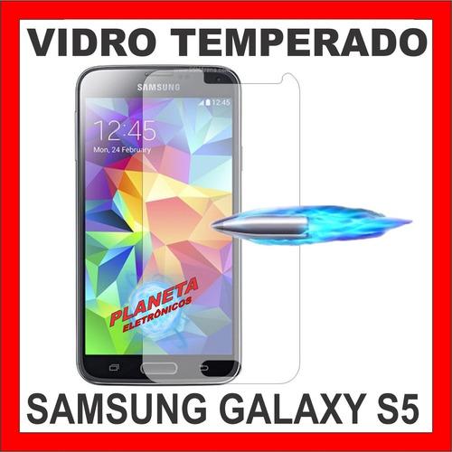 2 unidades - película vidro samsung galaxy s5,  i9600, g900
