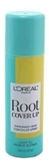 2 unidades - spray loreal cover up medium blonde 57g