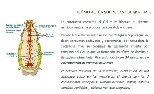 2 unidades veneno ecologico cucarachicida palmera gel origin