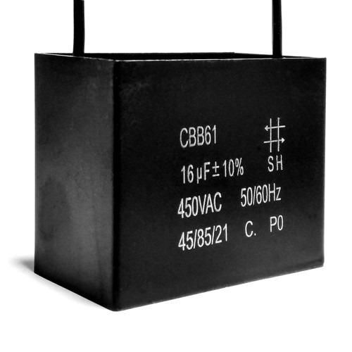 2 unids capacitor de partida 16uf x 450vac fio cbb61