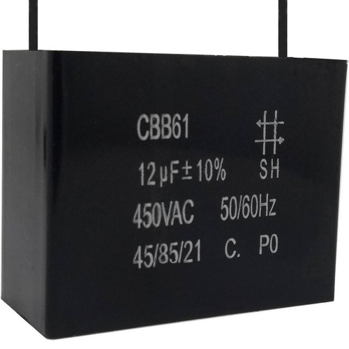 2 unids capacitor partida 12uf /450vac fio cbb61 40/85/21