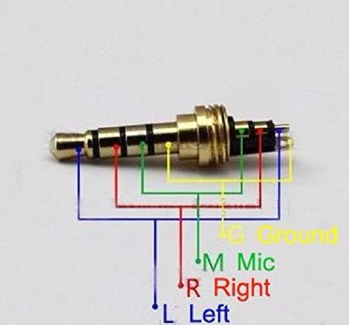 2 unids conector jack 3.5mm 4 polos  macho para soldar